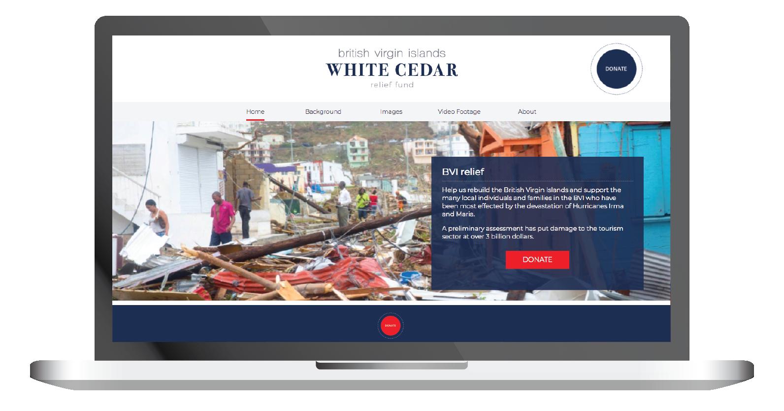 bvi white cedar relief fund home page website