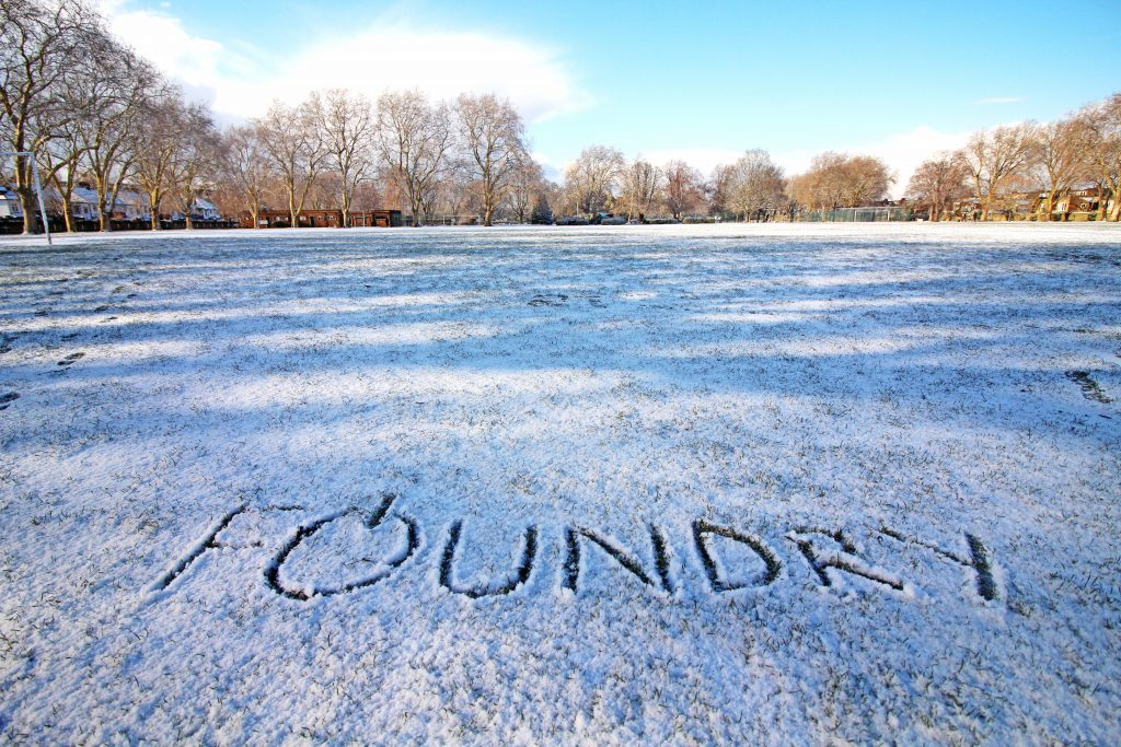 foundry digital logo in the snow