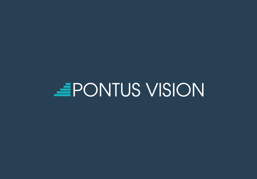 pontus vision logo words