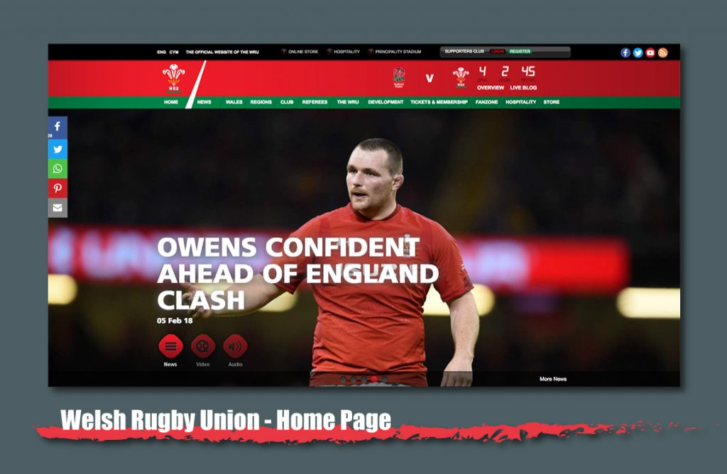 wales rugby union website