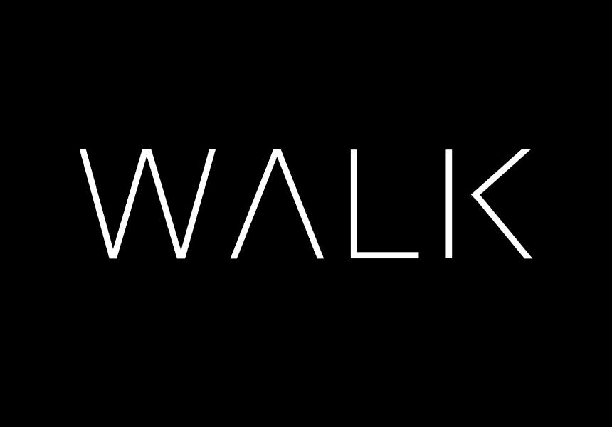 walk and create logo