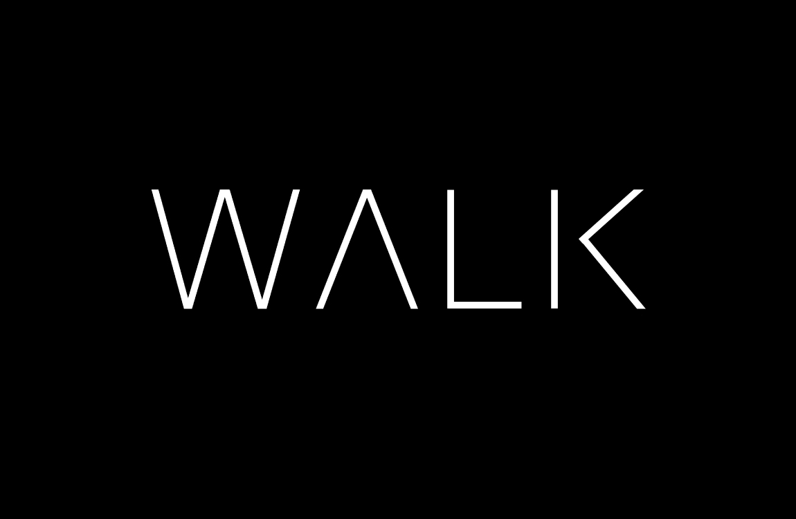 walk and create logo
