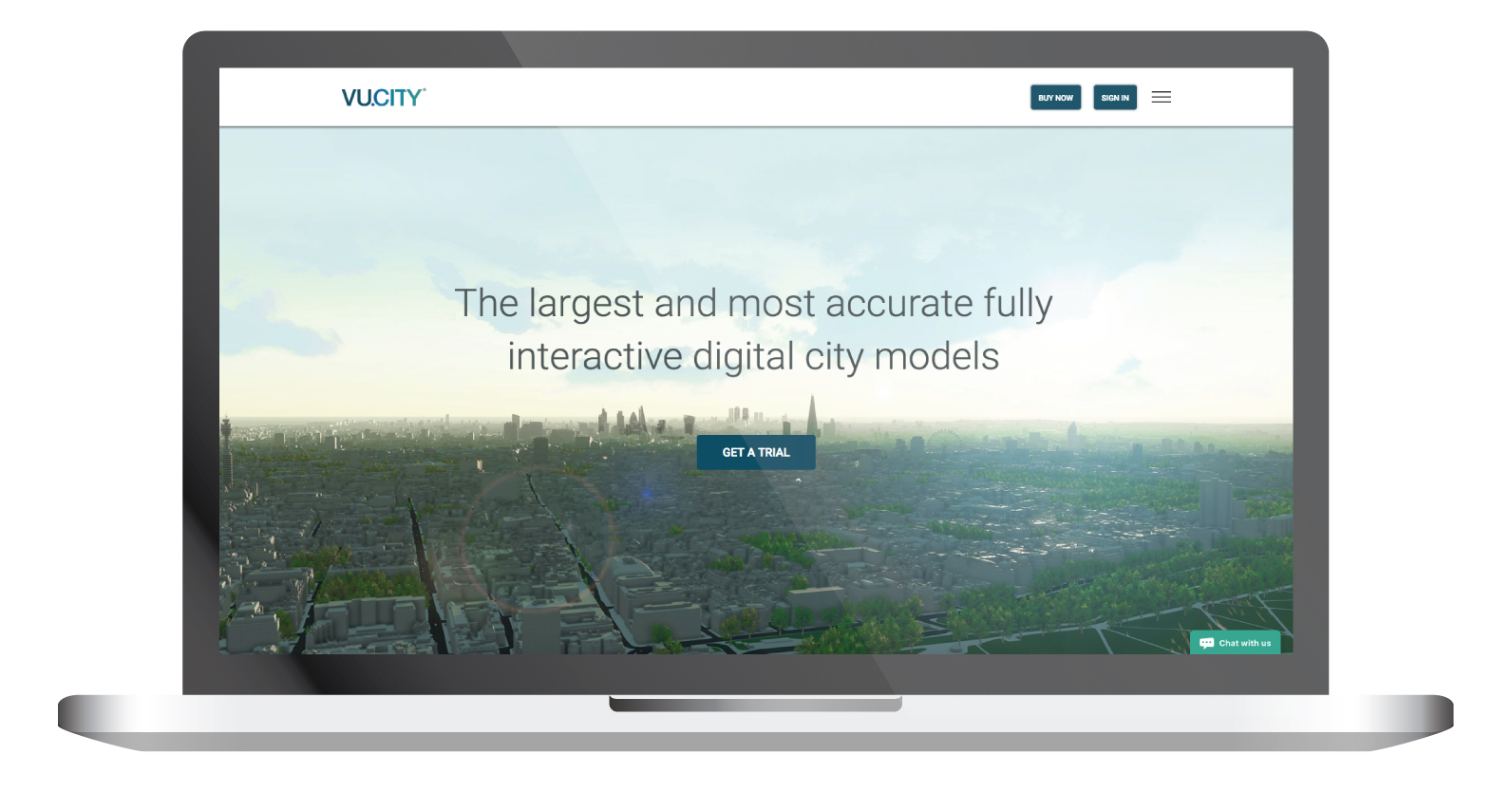 vucity homepage laptop