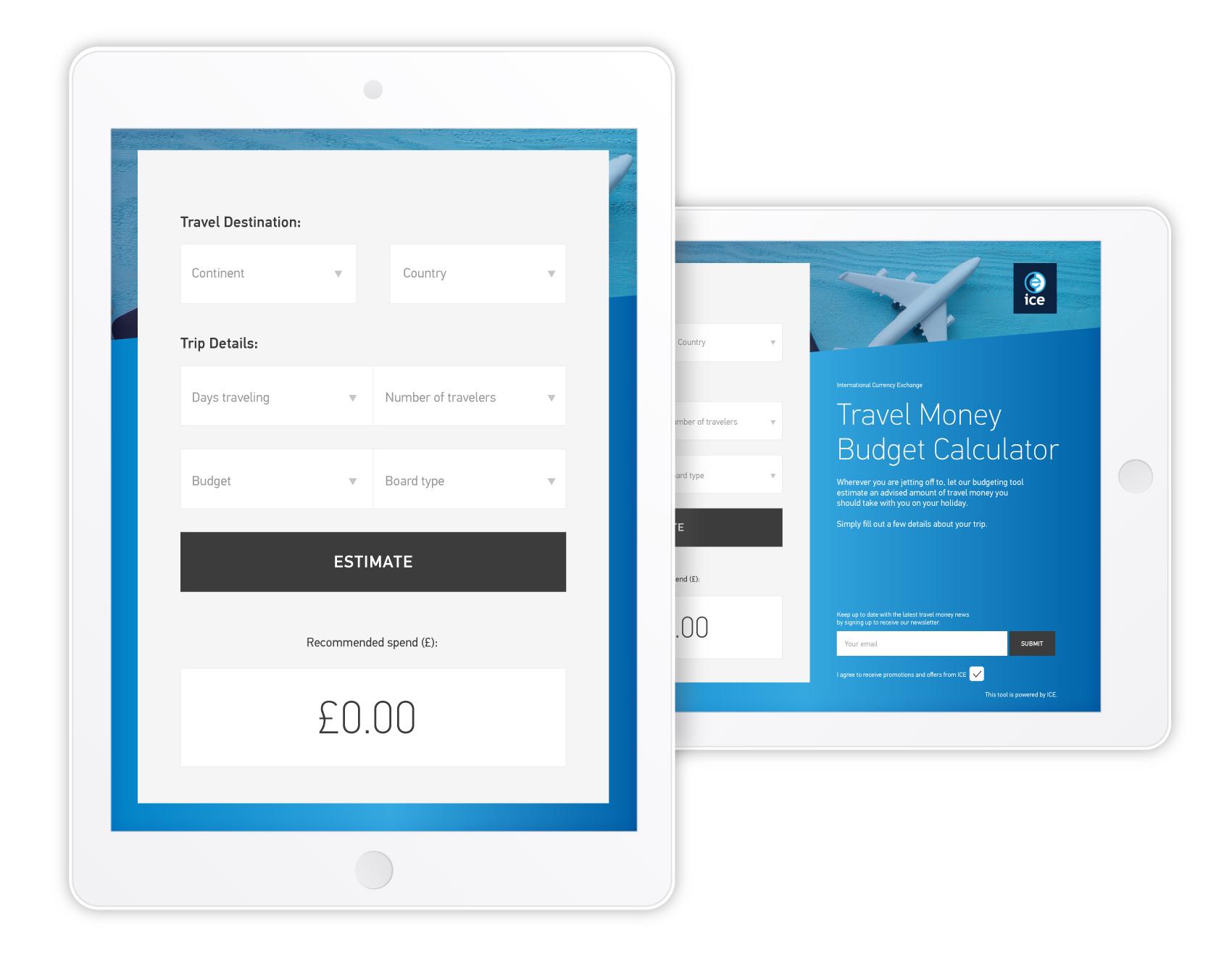 ice travel money budget calculator foundry digital
