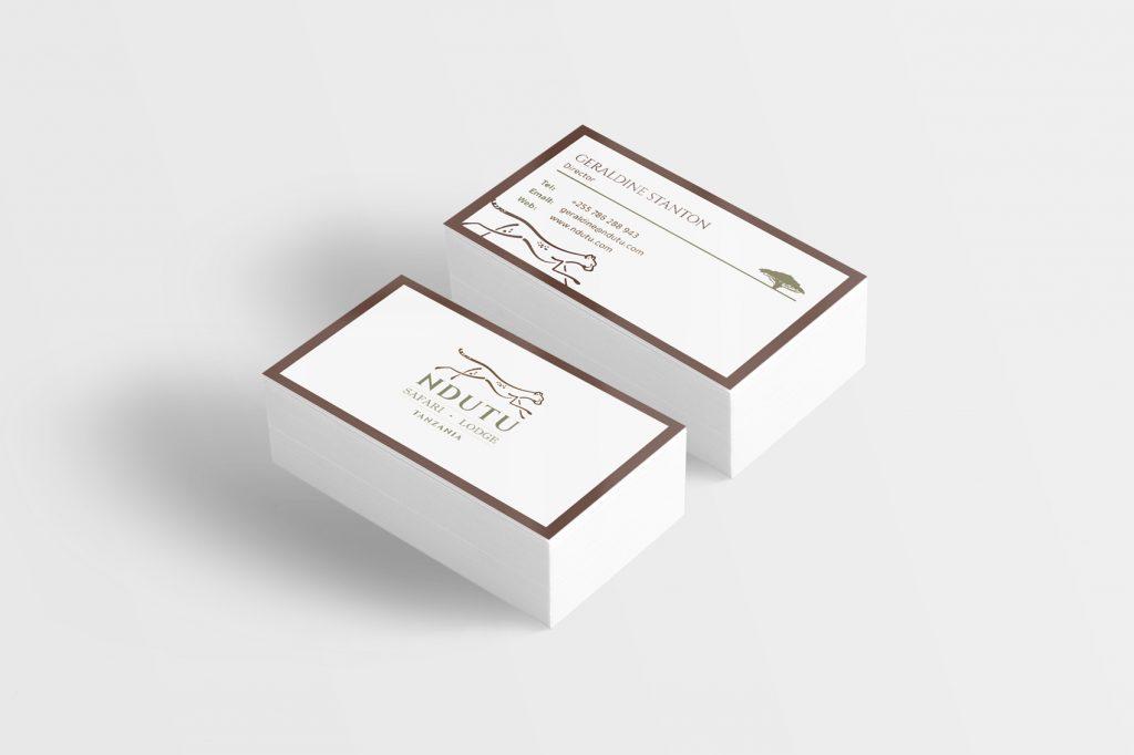 ndutu safari lodge business cards