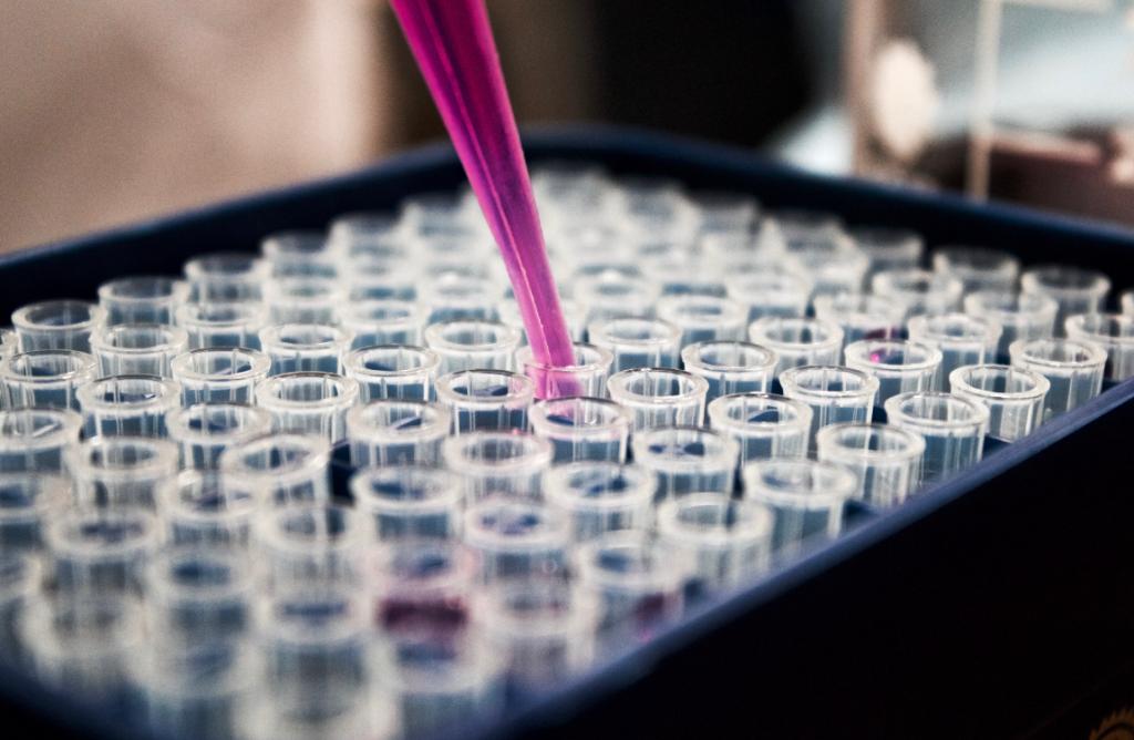 scientist pipette test tube