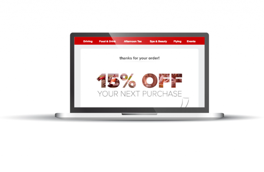 virgin experience days automated email banner disount